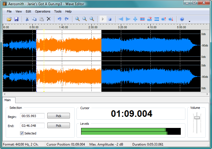Wave Editor is a fast and easy digital audio editing software for Windows.
